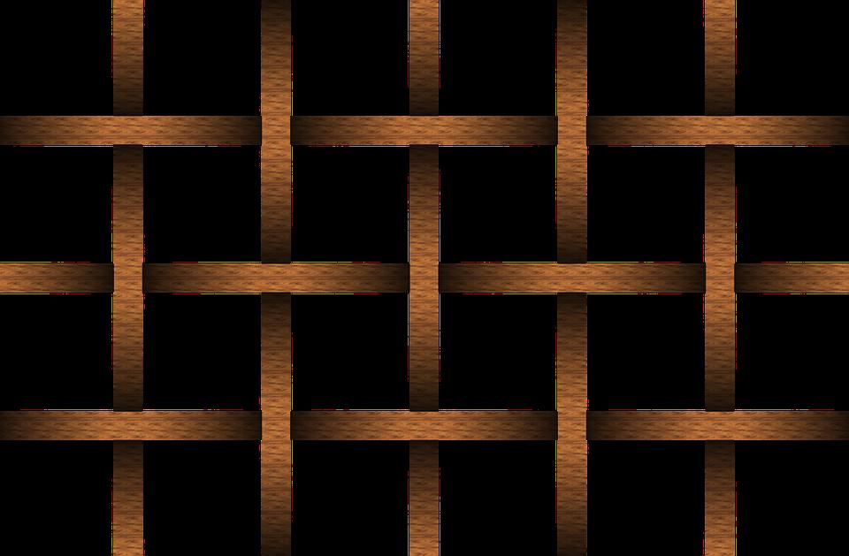 dřevěná mřížka
