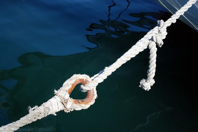 svázané lano